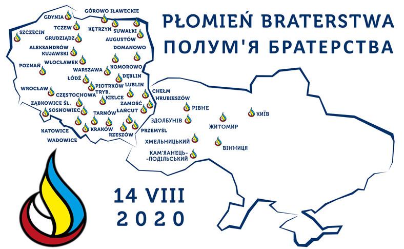 "Akcja ""Płomień Braterstwa – Полум'я Братерства"". Mapa stan na 29 lipca"