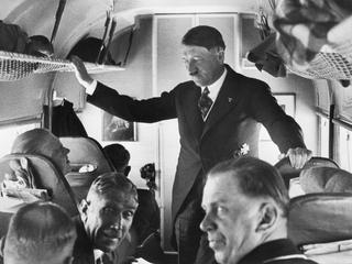 Hitler In Airplane On Campaign Tour