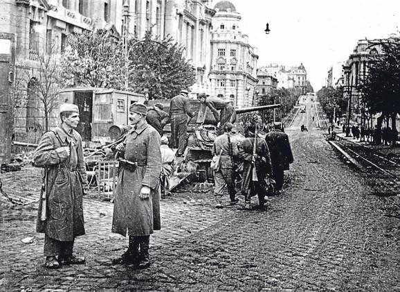 Ulica Miloša Velikog na dan oslobođenja