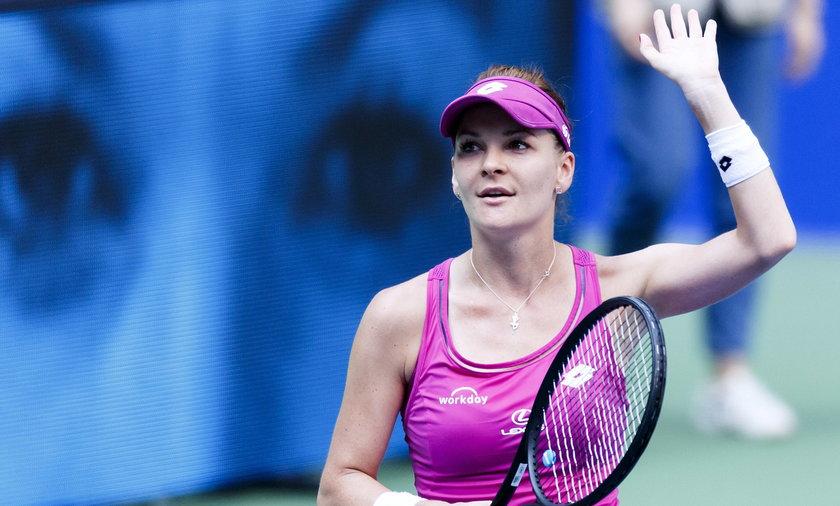 Agnieszka Radwańska  w drugiej rundzie turnieju w Dausze