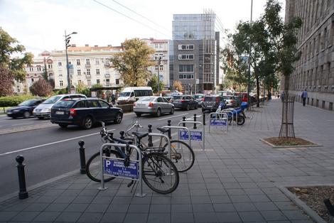 Parking za bicikle u Takovskoj ulici