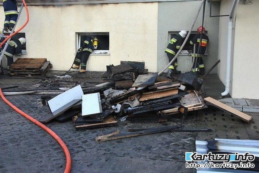 Pożar stolarni w Kiełpinie