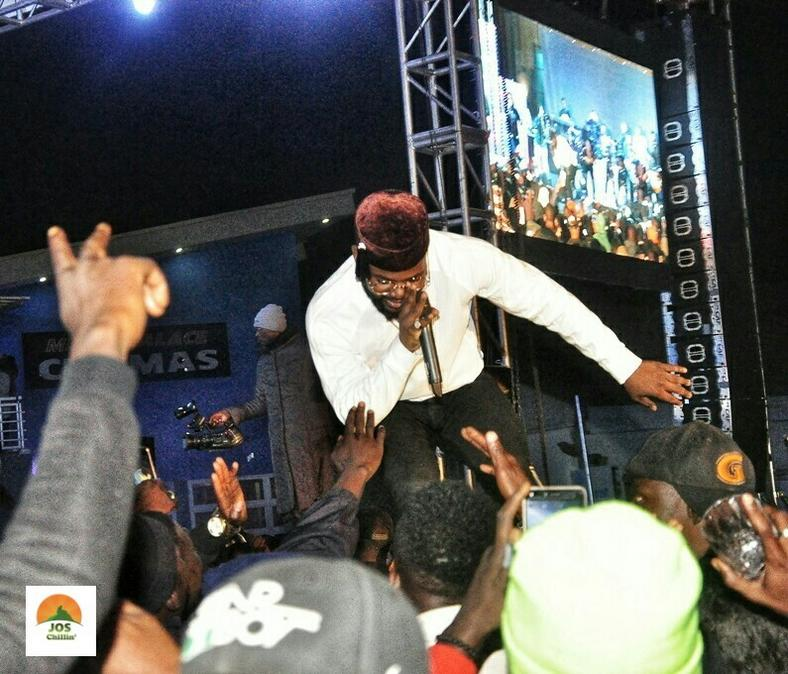 Falz performing at Jos Chillin' Mega Fiesta 2019