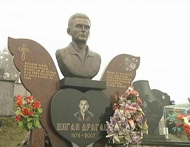 Spomenik Draganu Ciganu u rodnom mestu