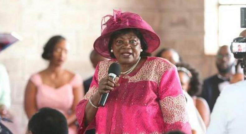 Former First Lady Mama Ngina Kenyatta at the wedding