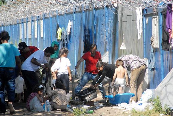 Kamp pored granice sa Mađarskom u blizini Horgoša