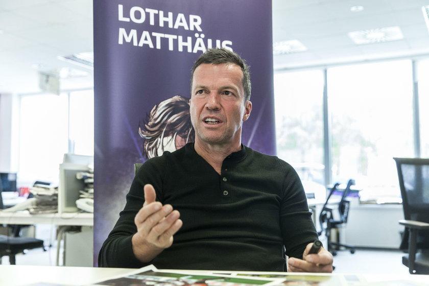 Pilka nozna. Siatkowka. Lothar Matthaus w redakcji Przegladu Sportowego. 22.09.2017