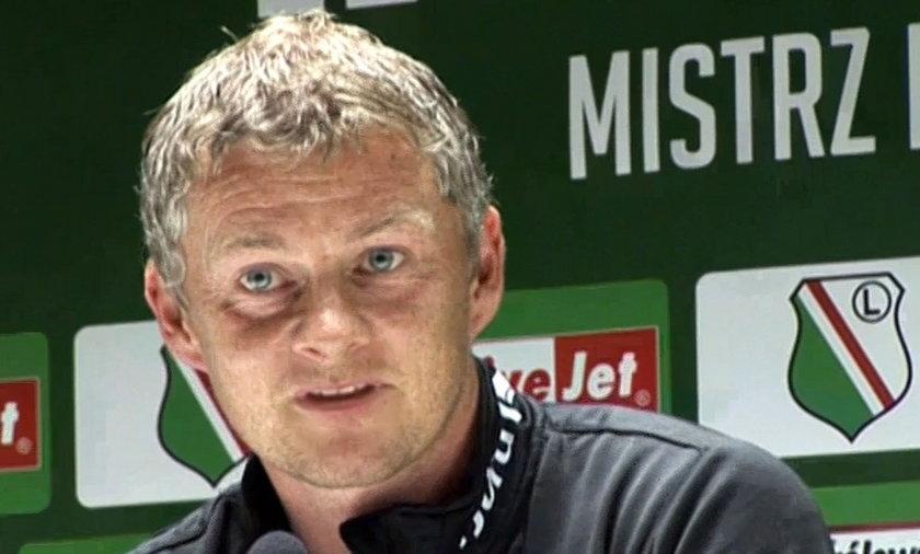 Konferencja prasowa przed meczem Legia Warszawa - Molde. Trener Ole Gunnar Solskjaer