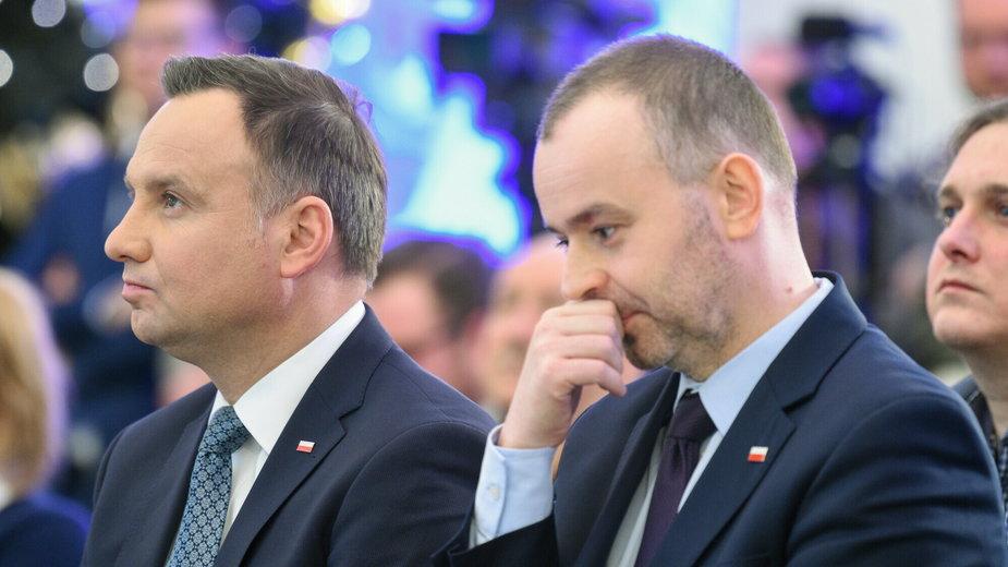 Paweł Mucha (z prawej) i Andrzej Duda (z lewej)