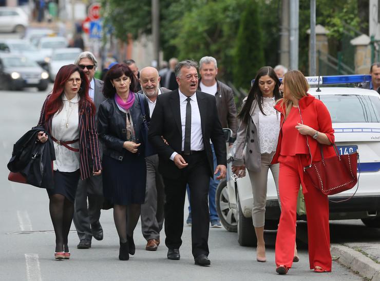 Milutin Jeličić Jutka dolazi na suđenje