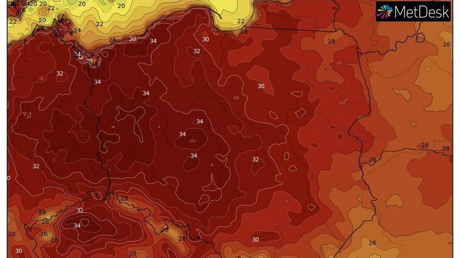Fala upałów zmierza do Polski