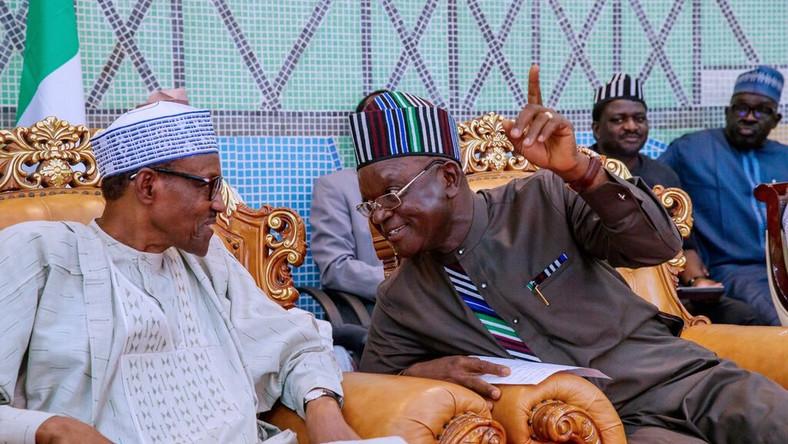 Benue State governor, Samuel Ortom, with President Muhammadu Buhari