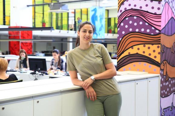 Jelena Milovanović tokom jedne od poseta redakciji