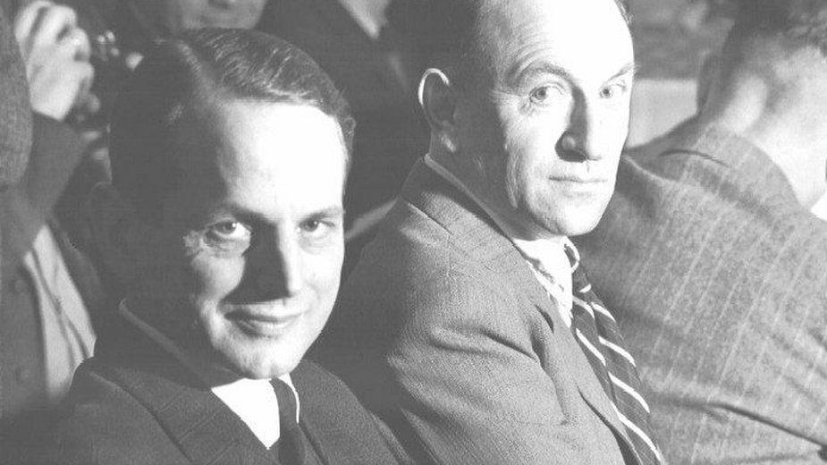 Otto Ohlendorf i Heinz Jost w czasie Procesu Einsatzgruppen - domena publiczna