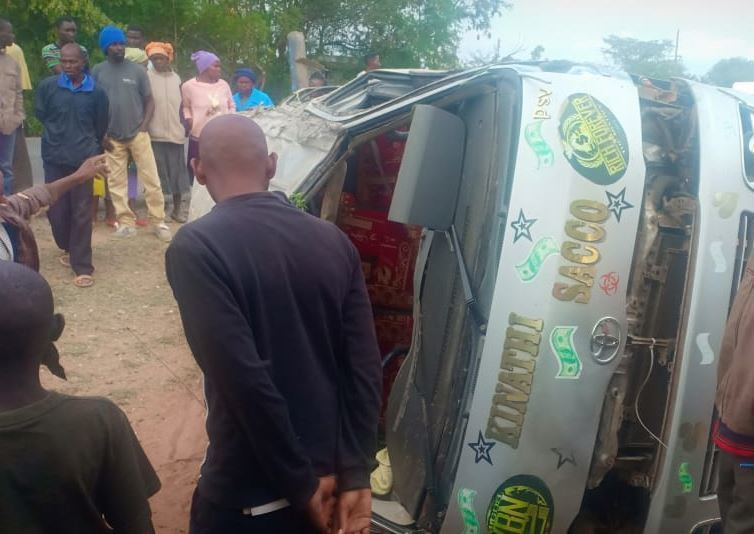 Matatu involved in accident along Kitui-Machakos highway