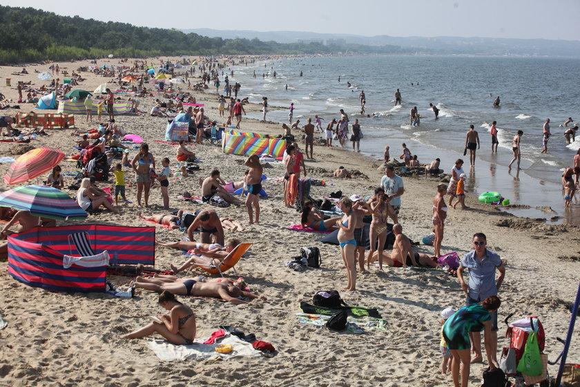 Plaża pełna ludzi