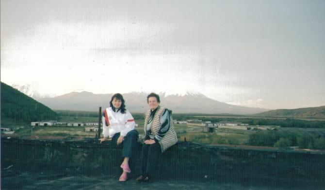 Sa majkom Ninom na Kamčatki