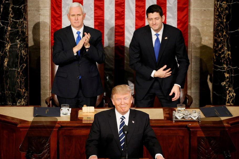 U.S. President Trump addresses Joint Session of Congress
