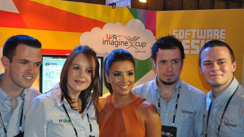Eva Longoria i zwycięzcy najbardziej prestiżowej kategorii Imagine Cup