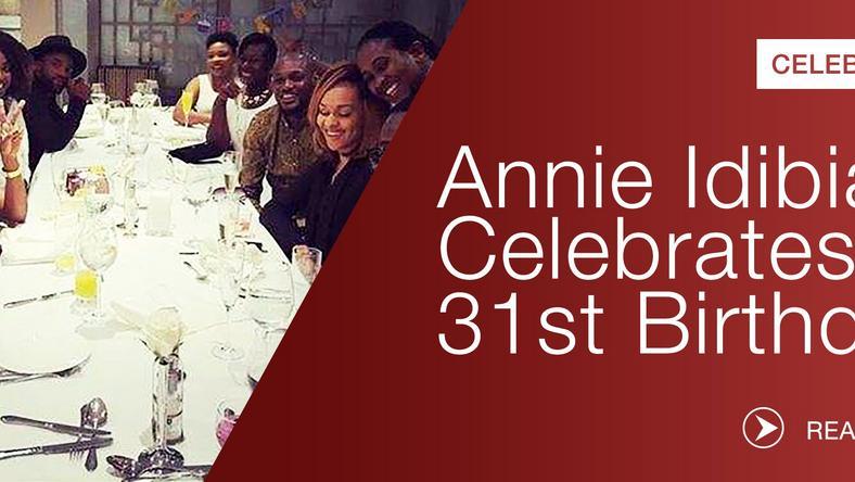 722a288ae5509 Annie Idibia Photos from actress  31st birthday dinner - Pulse Nigeria