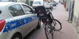 Pijany ojciec jechał z córką na rowerze