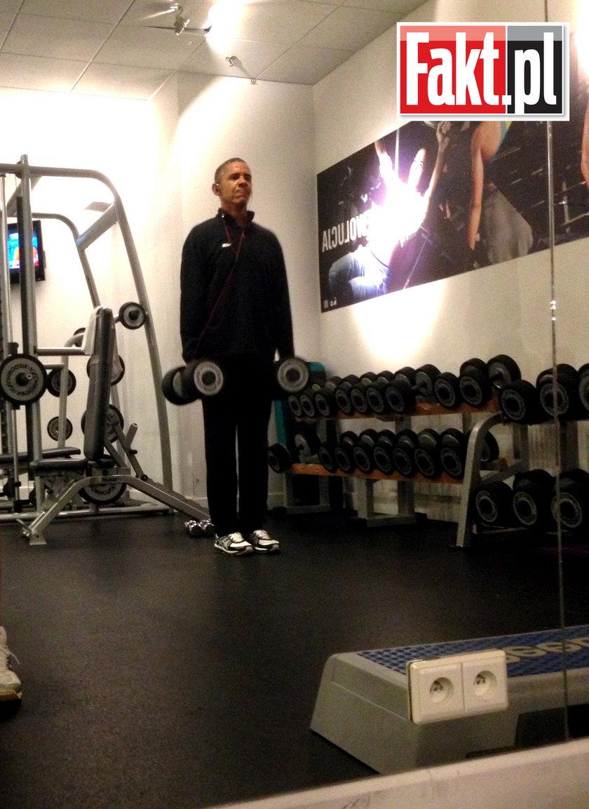 barack obama na siłowni