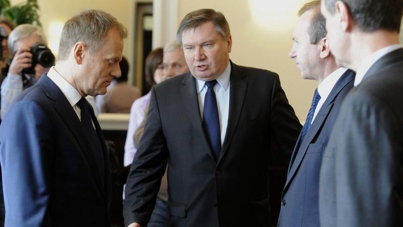 Donald Tusk i Jerzy Miller