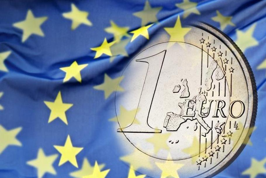 euro moneta flaga UE