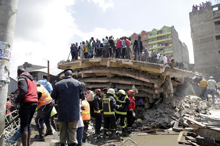 Kenija, najrobi, srušila se zgrada