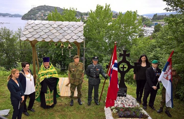 Svecanost u cast srpskih strdalnika u bergenu