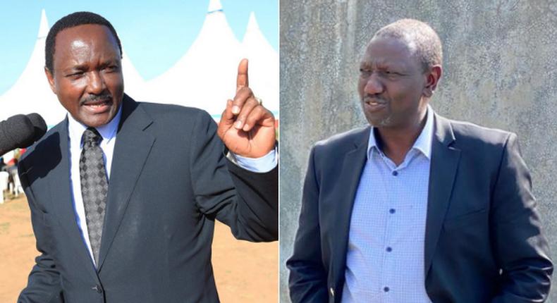 Wiper Party Leader Kalonzo Musyoka and Deputy President William Ruto