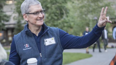 Tim Cook, prezes Apple. Akcje firmy osiągnęły rekordowy poziom
