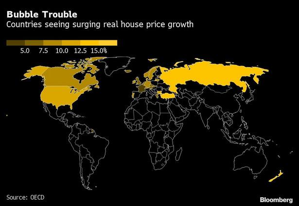 Wzrost cen mieszkań w krajach OECD