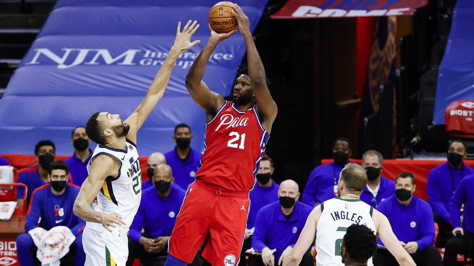 Fragment meczu Philadelphia 76ers - Utah Jazz