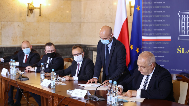 Jacek Sasin, Artur Soboń, Krzysztof Kubów, Piotr Dziadzio