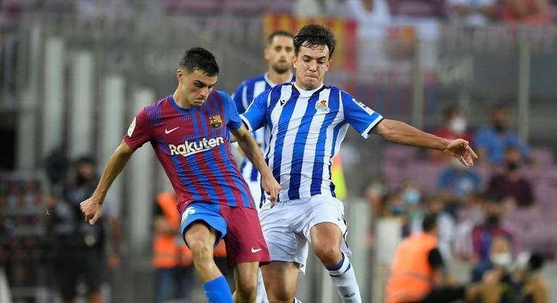 Pedri (left) has agreed a contract extension with Barcelona until 2026 Creator: Josep LAGO
