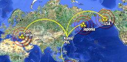 15 kwietnia próba atomowa Korei i III wojna światowa! Mapa promieniowania!