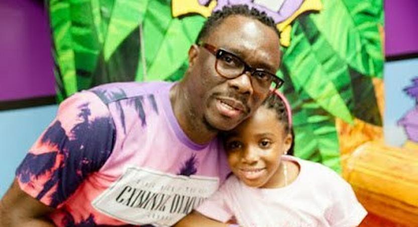 Julius Agwu and his daughter Zahra