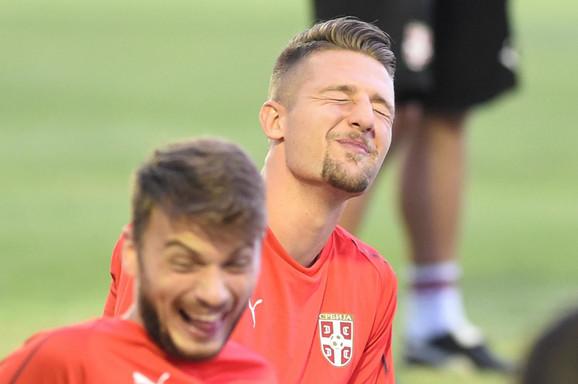 Adem Ljajić i Sergej Milinković Savić na treningu reprezentacije Srbije