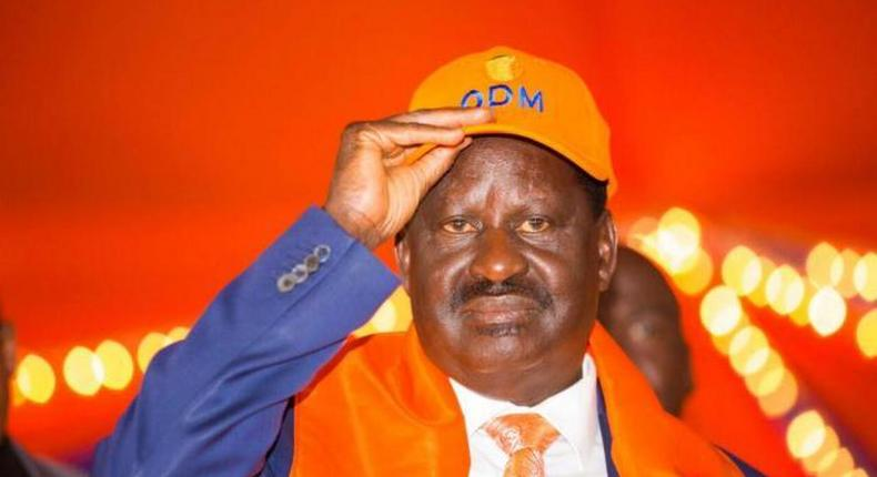 File image of ODM party leader Raila Odinga