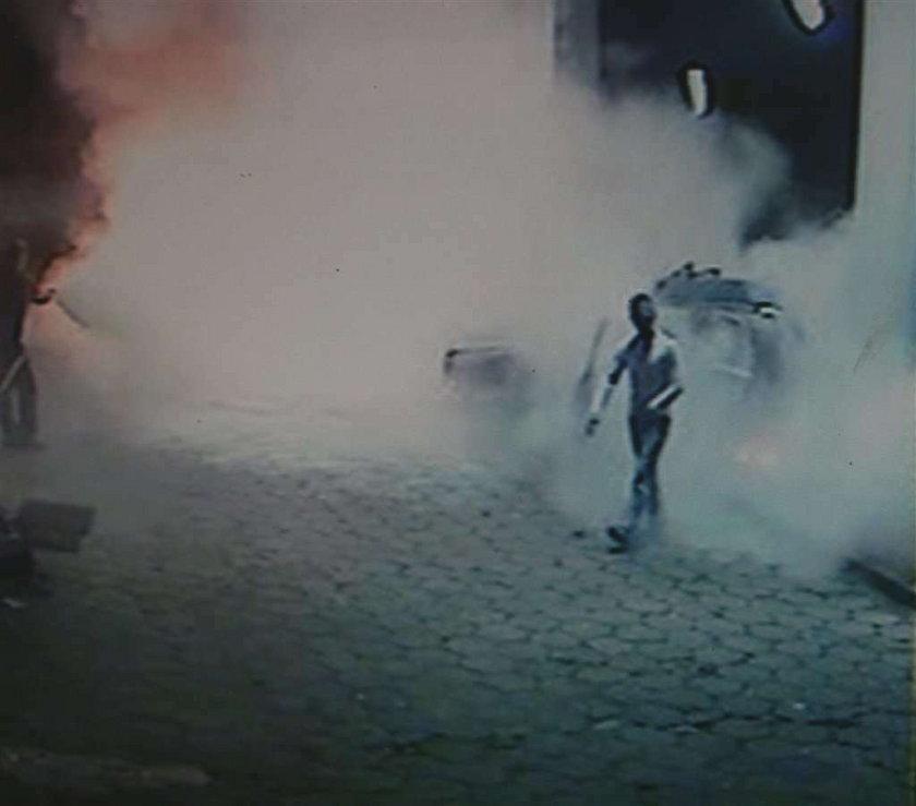Samochód wybuchł na stacji