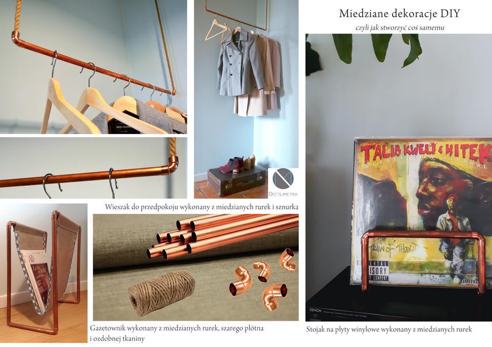 Miedziane elementy DIY