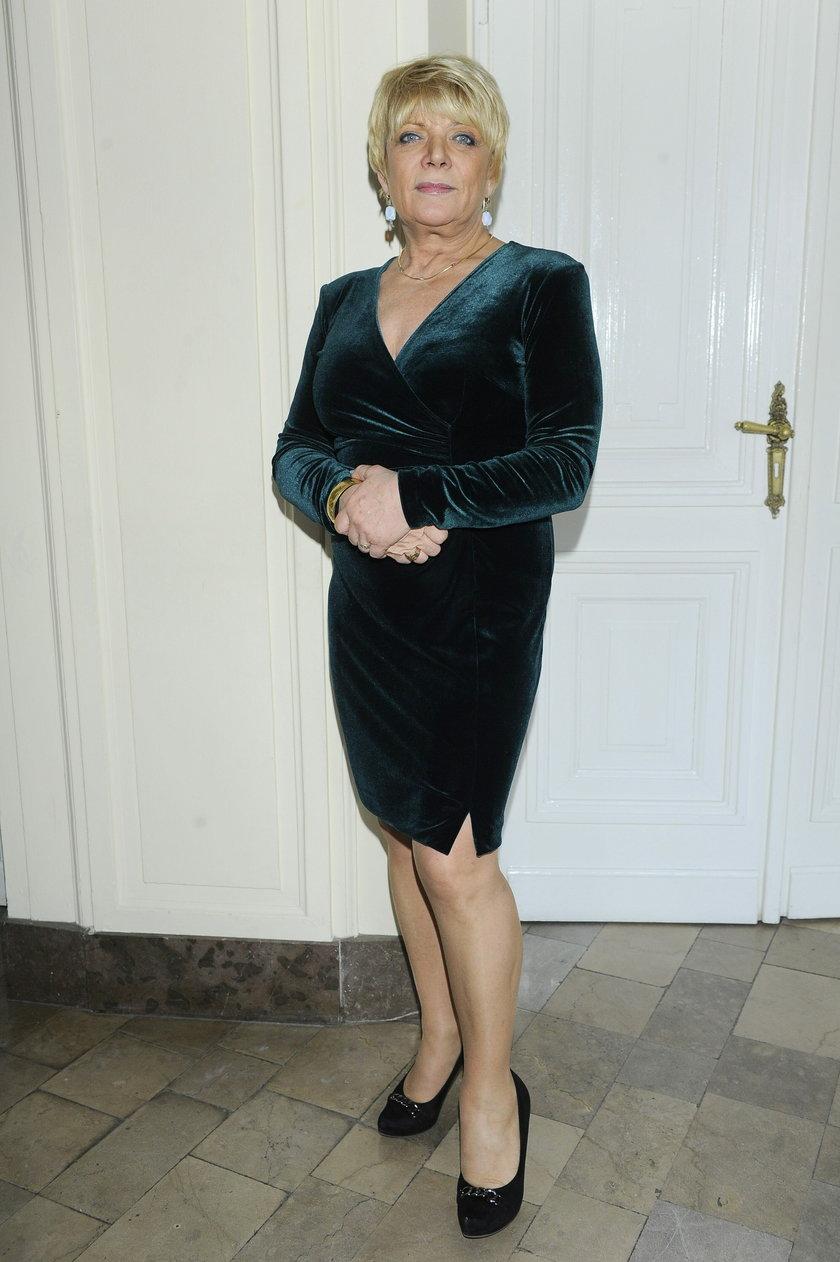 Dorota Stalińska w sukience