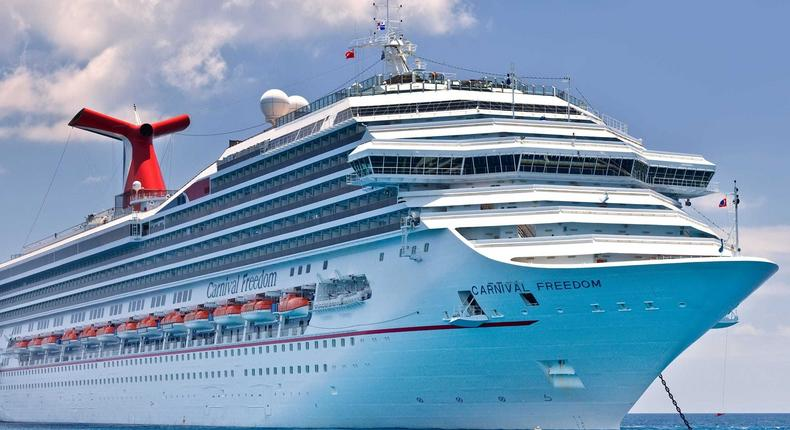 The average Carnival ship was only 59% full in August, the company said.