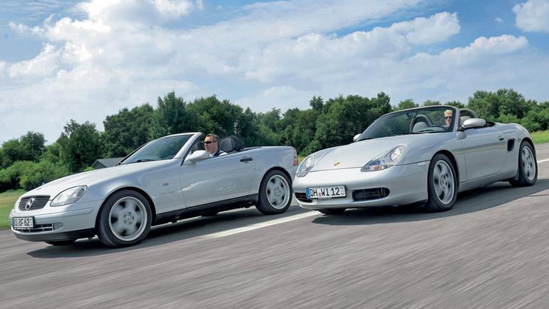 Mercedes SLK kontra Porsche Boxster - hełm czy może kaptur