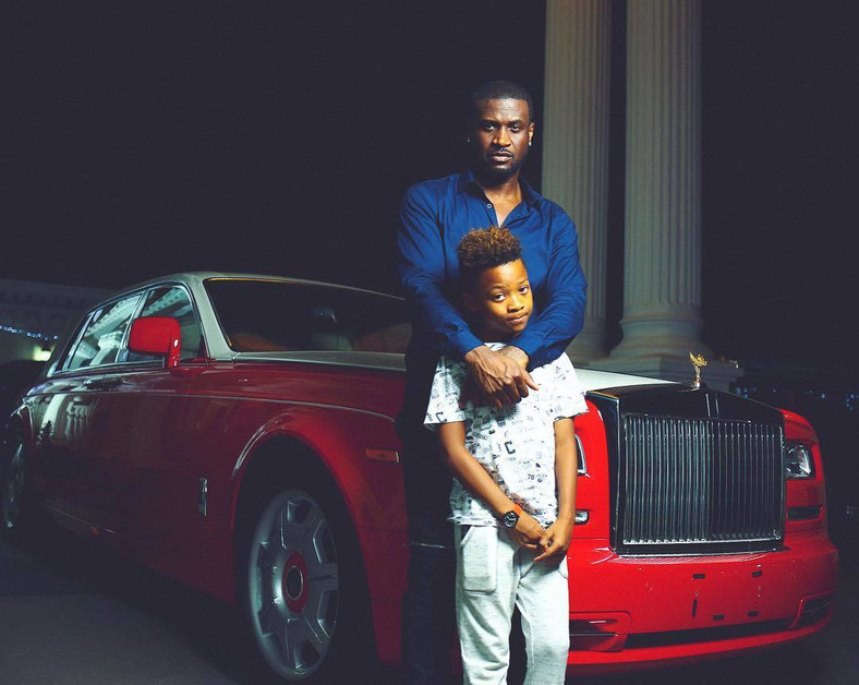 Peter Okoye and his son, Cameron [Instagram/PeterPsquare]