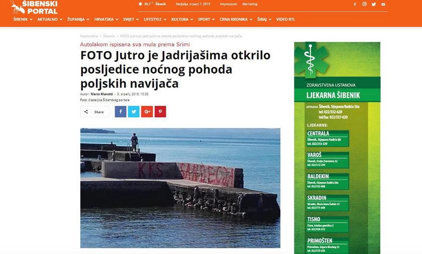 Chorwacja: Polacy zostawili wulgarne graffiti. Chorwaci oburzeni