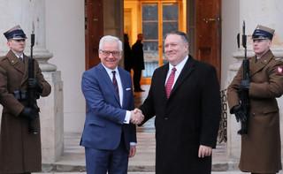 Czaputowicz i Pompeo: Liczymy na solidarne działania w sprawie Bliskiego Wschodu