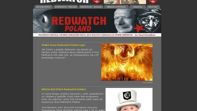 Neonazistom udało się ponownie uruchomić portal redwatch.info