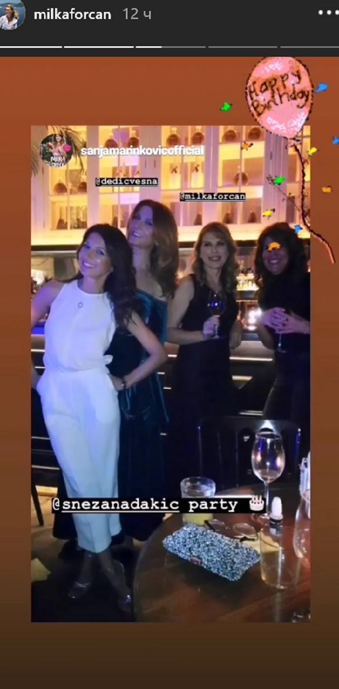 Na proslavi su bile i SanjaMarinković, Vesna Dedić i Jelena Blečić